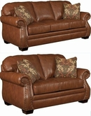 Broyhill 3743 Ridley Leather Sofa Set