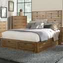 Broyhill 4333-250-255-460-4999-705 Ember Grove Queen Panel Storage Bed
