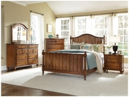 Broyhill 4645-260-261-450-230-237 Golden Oak Finish Bedroom Set