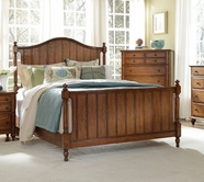 Broyhill 4645-260-261-450 oak Hayden Place Queen Panel Bed