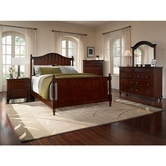 Broyhill 4647-260-261-450-230-237 Hayden Place-Dark Cherry Finish Bedroom Set