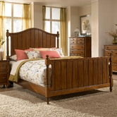 Broyhill 4648-264-265-455 Hayden Place-Light Cherry Finish California King Panel Bed