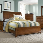 Broyhill 4648-270-271-450 Hayden Place-Light Cherry Finish Queen Sleigh Bed