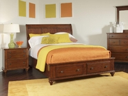 Broyhill 4648-270-273-470-705 Hayden Place-Light Cherry Finish Queen Sleigh Storage Bed