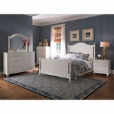 Broyhill 4649-260-261-450-230-237 Hayeden Place-Linen White Finish Bedroom Set