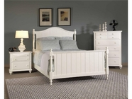 Broyhill 4649-264-265-450 Hayden Place-Linen White Finish Eastern King Panel Bed