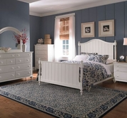 Broyhill 4649-264-265-455 Hayden Place-Linen White Finish California King Panel Bed