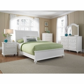 Broyhill 4649-274-275-450 Hayden Place-Linen White Finish Eastern King Sleigh Bed