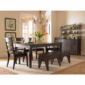 Broyhill 4990-532-4X81 Attic Retreat Leg Table Dining Room Set