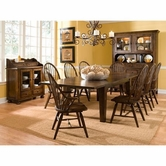Broyhill 5399-42-4X85 Attic Heirlooms-Rustic Oak Dining Room Furniture Set