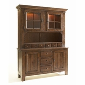Broyhill 5399-65-66 Attic Heirlooms-Rustic Oak Dining Room Furniture China and hutch