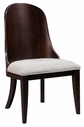 Broyhill 8050-585 Pinstripe Uph. Seat/Wood Back Slipper Chair