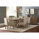 Broyhill 8054-531-551-4X81 Hampton Dining Room Furniture Double Pedestal Table Set