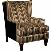 Broyhill 9040-0 Trenton Chair (brass nailhead trim)