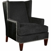 Broyhill 9040-1 Trenton Chair (chrome nailhead trim)