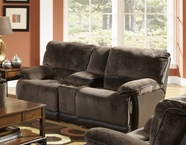 Catnapper 1719 Escalade Reclining Console loveseat with Storage & Cupholders
