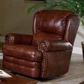 Catnapper 4110-2-Chestnut Top Grain Leather-Touch - Rocker Recliner