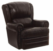 Catnapper 4110-2-Chocolate Top Grain Leather-Touch - Rocker Recliner