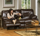 Catnapper 4299 Cortez Reclining Console loveseat with Storage & Cupholders