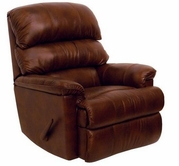 Catnapper 4404-2-Tobacco Top Grain Leather-Touch - Chaise Rocker Recliner