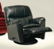 Catnapper 4415-5-Black Bonded Leather- Swivel Glider Recliner