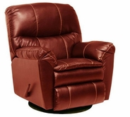 Catnapper 4415-5-Red Bonded Leather- Swivel Glider Recliner