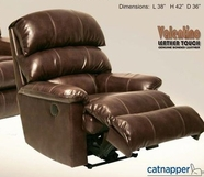 "Catnapper 4418-4-Hershey Bonded Leather- ""Inch Away"" Wall-Hugger Recliner"