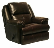 "Catnapper 4435-5-Mahogany Top Grain Leather-Touch - Chaise ""Swivel Glider"""" Recliner"