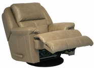 "Catnapper 4435-5-Mushroom Top Grain Leather-Touch - Chaise ""Swivel Glider"""" Recliner"