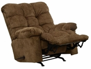 "Catnapper 4690-2-Mocha Bronson Chaise Rocker Recliner w/ ""X-tra"" Comfort Footrest in fabric 2312-49"