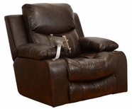 "Catnapper 4735-6-Godiva Premium ""Bonded"" Leather - Glider Recliner with IPAD Claw & Dual Storage"