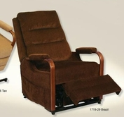 Catnapper 4845-Brazil Emerson Power Lift Full Lay-Out Chaise Recliner-Top Grain Leather-Touch in fabric 1719-29
