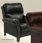 Catnapper 5539-Java Bonded Leather - Reclining Chair with Extended Ottoman
