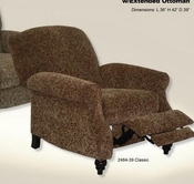 Catnapper 5544-Classic Garrison Reclining Chair w/Extended Ottoman in fabric 2484-39