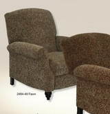 Catnapper 5544-Fawn Garrison Reclining Chair w/Extended Ottoman in fabric 2484-49