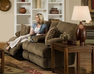 "Catnapper 61889 Harbor ""Power"" Reclining Console loveseat with Storage & Cupholders"