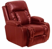 "Catnapper 6420-Red Bonded Leather - ""Power"" Wall-Hugger Chaise Recliner"