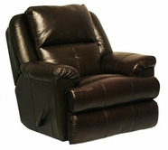 "Catnapper 64435-6-Mahogany Top Grain Leather-Touch - ""Power"" Chaise ""Glider"" Recliner"