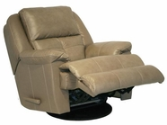 "Catnapper 64435-6-Mushroom Top Grain Leather-Touch - ""Power"" Chaise ""Glider"""" Recliner"