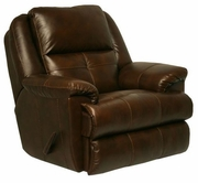 "Catnapper 64435-6-Tobacco Top Grain Leather-Touch - ""Power"" Chaise ""Glider"" Recliner"