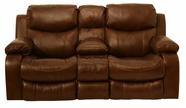 "Catnapper 64959 Dallas ""Power"" Reclining Console loveseat with Storage & Cupholders"