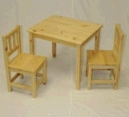 Chicago Stool & Chair Natural Kids Table And Chair