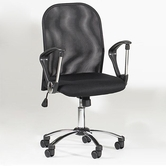 CHINTALY IMPORTS 3696-CCH Black Mesh Back Swivel Tilt Pneumatic Gas Lift Chair Upholstered in Black Mesh