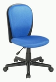 CHINTALY IMPORTS 4245-CCH-BLU Black Fabric Back and Seat Youth Desk Chair Upholstered in Blue Cloth Mesh
