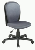 CHINTALY IMPORTS 4245-CCH-GRY Black Fabric Back and Seat Youth Desk Chair Upholstered in Grey Cloth Mesh