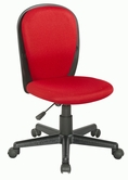 CHINTALY IMPORTS 4245-CCH-RED Black Fabric Back and Seat Youth Desk Chair Upholstered in Red Cloth Mesh