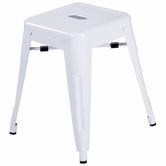 CHINTALY IMPORTS 8018-SC-WHT Alfresco Collection White Galvanized Steel Side Chair