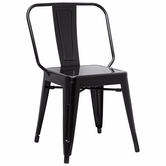 CHINTALY IMPORTS 8021-SC-BLK Alfresco Collection Black Galvanized Steel Side Chair
