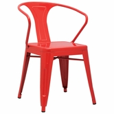 CHINTALY IMPORTS 8023-SC-RED Alfresco Collection Red Galvanized Steel Side Chair