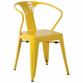 CHINTALY IMPORTS 8023-SC-YLW Alfresco Collection Yellow Galvanized Steel Side Chair